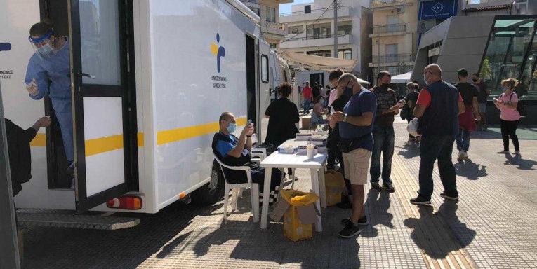 Με επιτυχία διενεργήθηκαν 566 rapid tests στο Δήμο Βριλησσίων