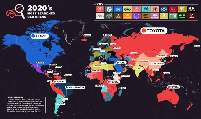 Οι μάρκες αυτοκινήτων που αναζητήθηκαν περισσότερο στο διαδίκτυο το 2020
