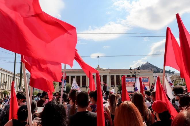 Απεργία: «Stop στον Χατζηδάκη» φωνάζουν οι διαδηλωτές – Ποιοι δρόμοι είναι κλειστοί