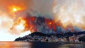 Μεγάλη φωτιά στην Εύβοια-Εκκενώνονται οικισμοί